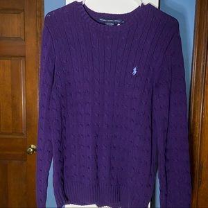 Lds. Ralph Lauren Cable Crest Crew Neck Sweater XL
